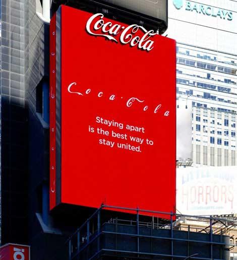 تغییر لوگو کوکا کولا برای اهمیت مبارزه با ویروس کورونا - لوگو - آرم