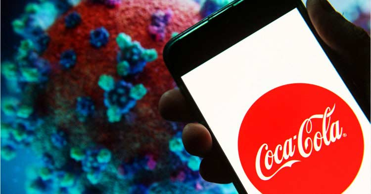 لوگو - آرم - تغییر لوگو Coca-Cola برای اهمیت مبارزه با ویروس کورونا