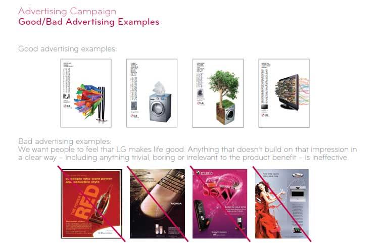 نقش طراحی هویت بصری در برند سازی چیست؟ LG corporate identity design guideline قواعد طراحی برای تبلیغات