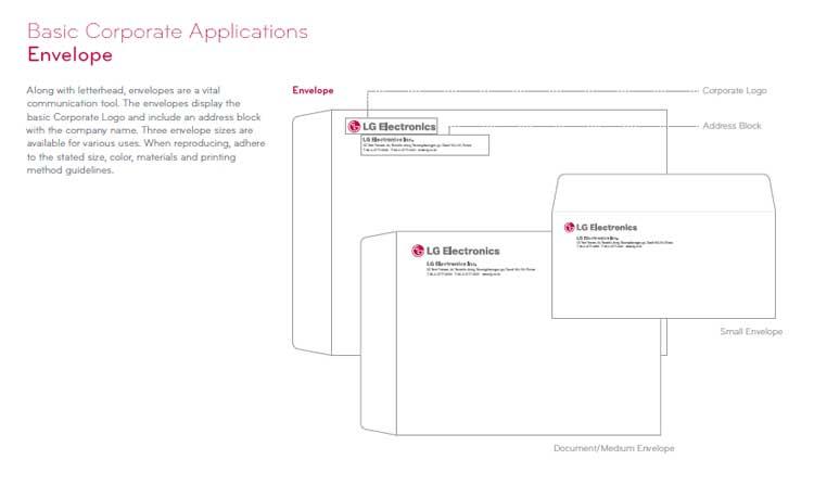 نقش طراحی هویت بصری در برند سازی چیست؟ LG corporate identity design guideline طراحی اقلام هویت بصری