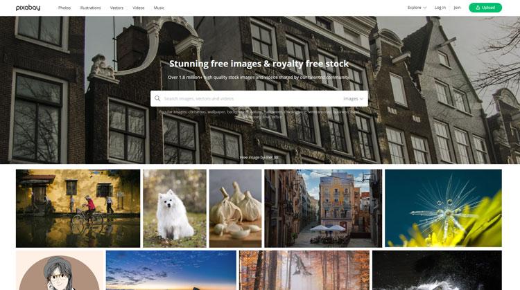 10 وبسایت کاربردی برای گرافیست The Best Websites For Graphic Designers https://pixabay.com/