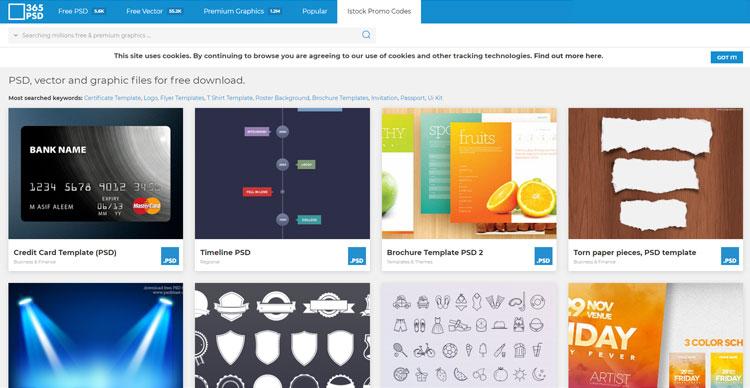 10 وبسایت کاربردی برای گرافیست The Best Websites For Graphic Designers https://365psd.com/