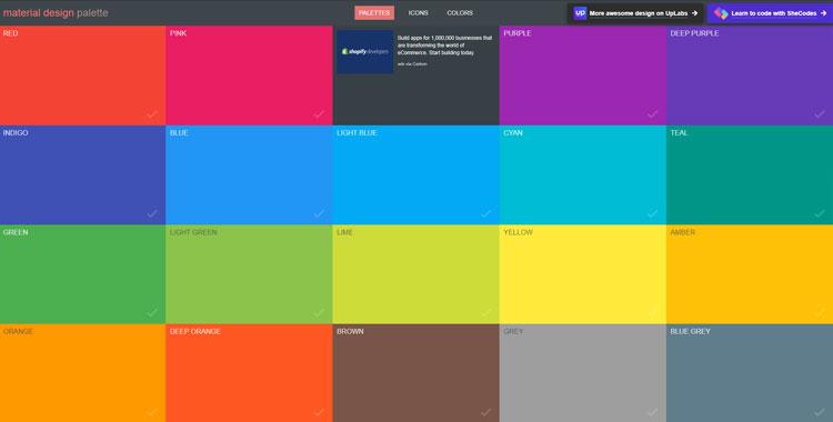 10 وبسایت کاربردی برای گرافیست The Best Websites For Graphic Designers https://www.materialpalette.com/
