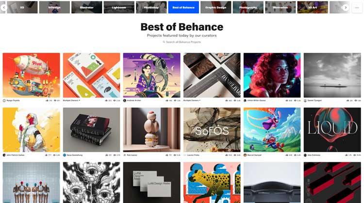 5 وب سایت برتر برای ایده و خلاقیت The best websites for ideas and creativity https://www.behance.net/ وبسایت بیهنس