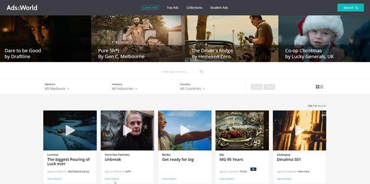5 وب سایت برتر برای ایده و خلاقیت The best websites for ideas and creativity وبسایت https://www.adsoftheworld.com/