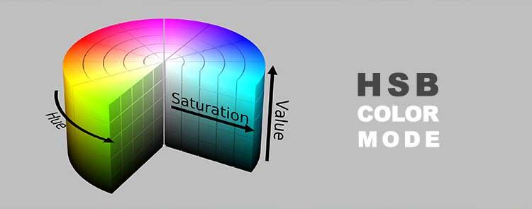 HSB color mode مدل رنگی HSB تفاوت RGB و CMYK در فتوشاپ variety of color modes in Photoshop