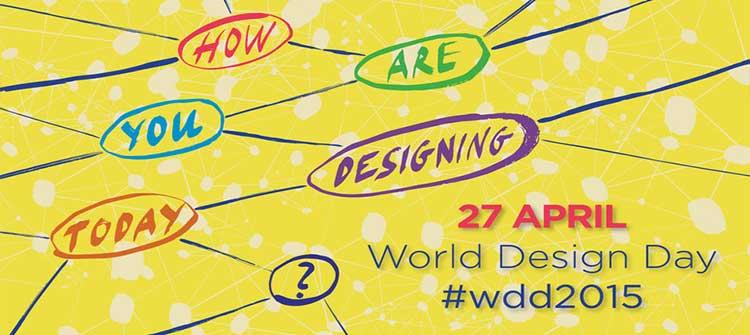 شعار پوستر روز جهانی گرافیک و دیزاین در سال 1394 -2015