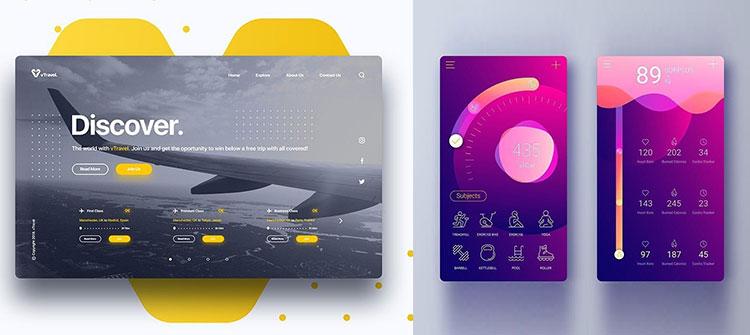 طراحی وبسایت و اپلیکیشن با ایلوستریتور