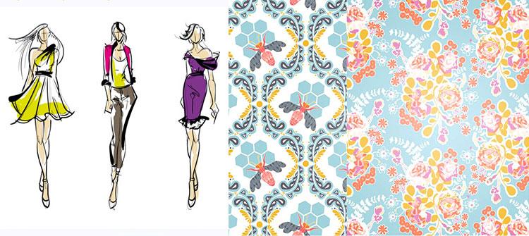 طراحی پارچه و لباس با ایلوستریتور
